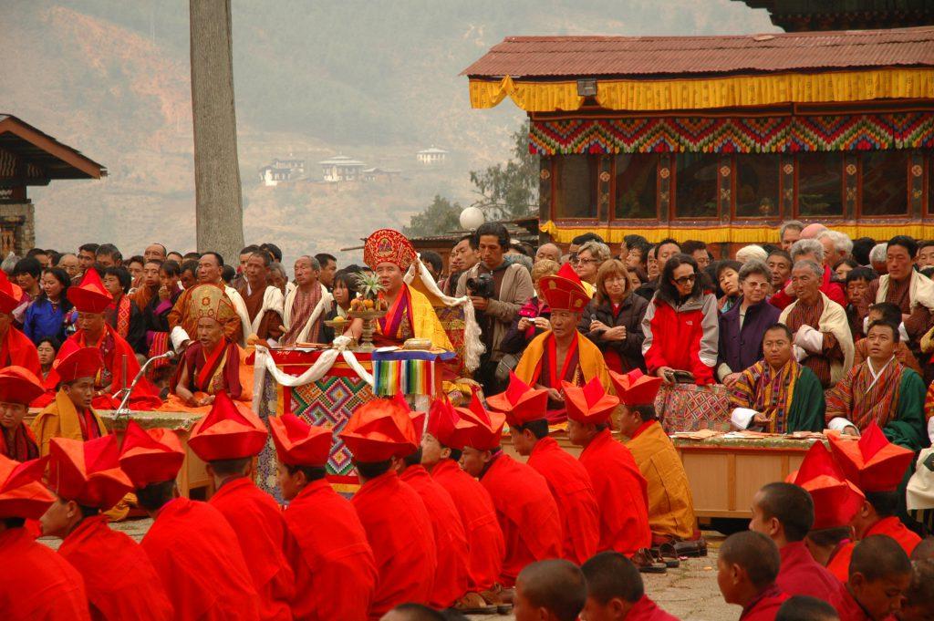 Paro Tsechu Festival Bhutan Mönche Buddhismus