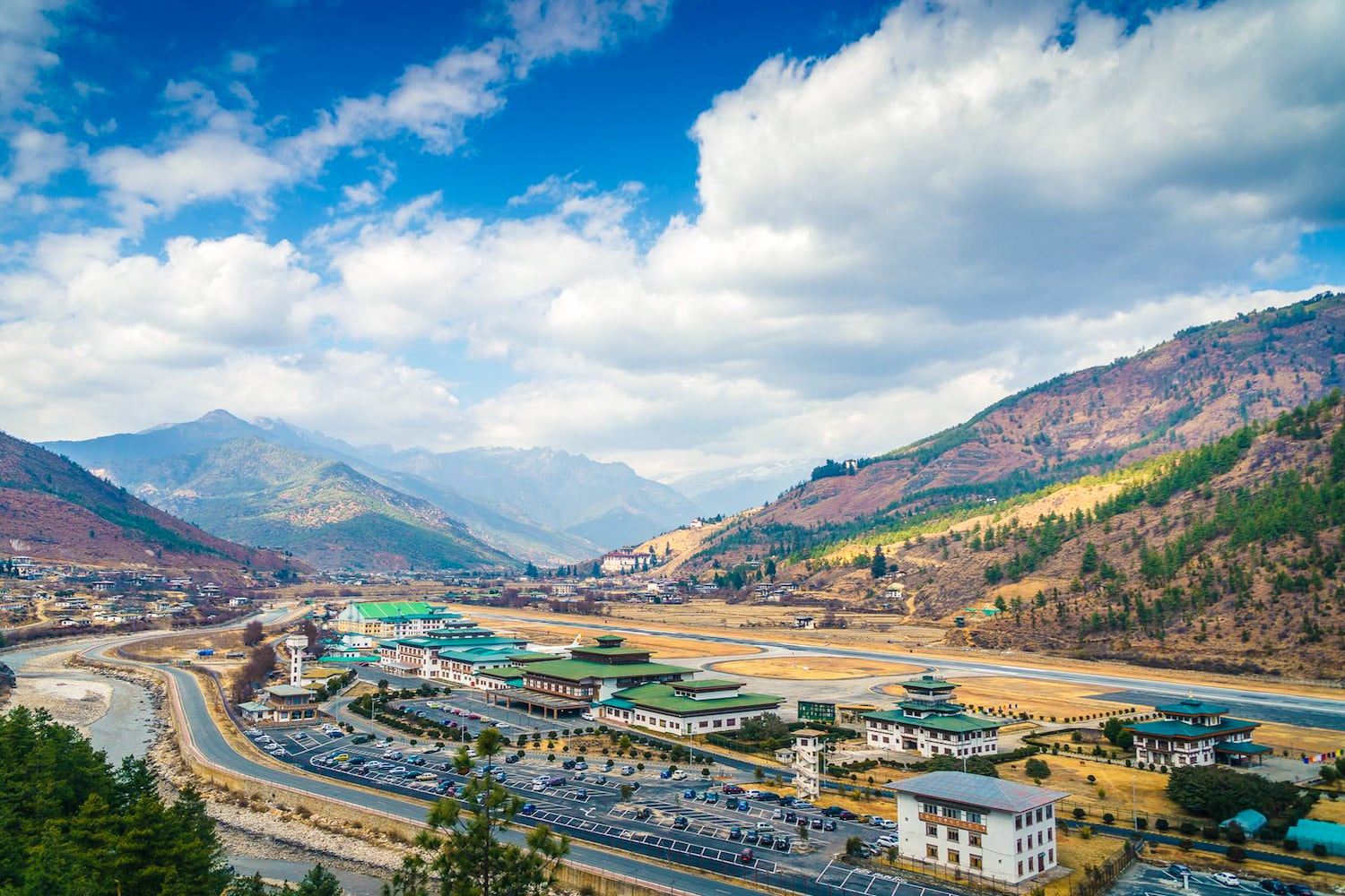 Reise Bhutan Internationaler Flughafen Paro