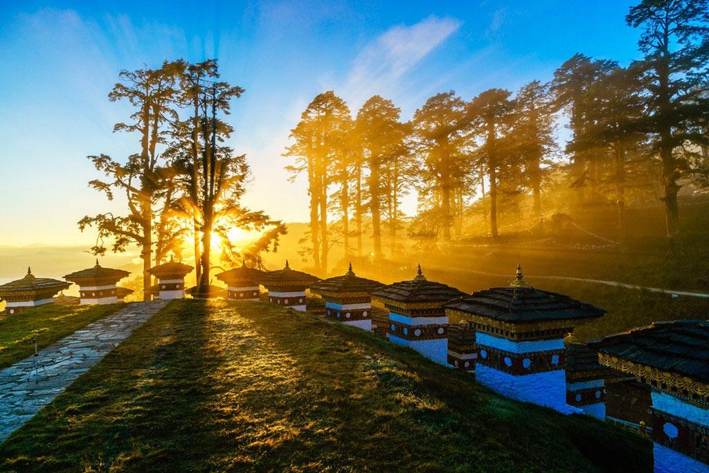 Dochula Pass Bhutan Himalaya Gebetsfahnen