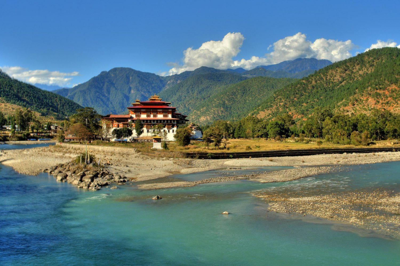 Punakha Dzong Festung Bhutan Glueckseligkeit