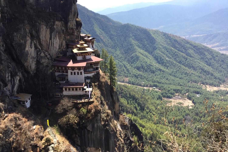 Paro Tigersnest Taktsang Tempel Bhutan Heilig Tiger Nest Sehenswürdigkeit