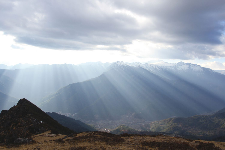 Bumdra Trek Wanderung Paro Bhutan Aussich Himalaya