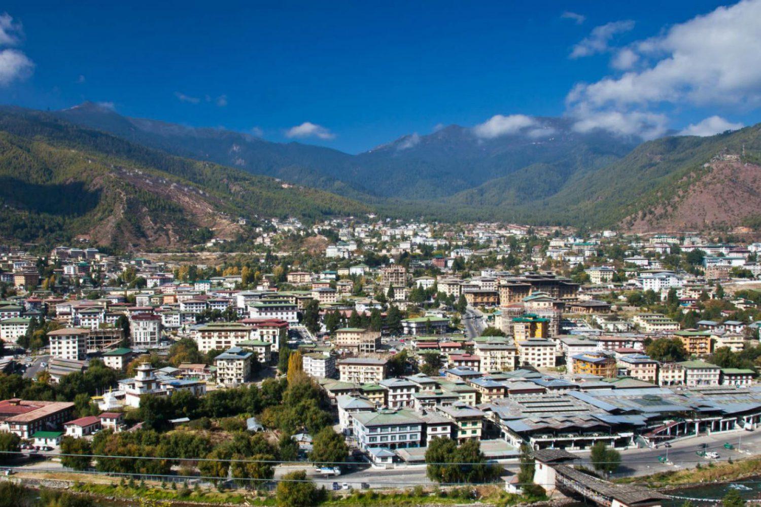 Thimphu Bhutan Stadt Hauptstadt